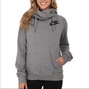 Nike • Grey Rally Funnel Neck Hoodie Sweatshirt